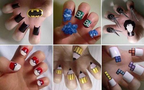 nails nail polish funny Pokémon Edward Scissorhands batman science - 7518302720
