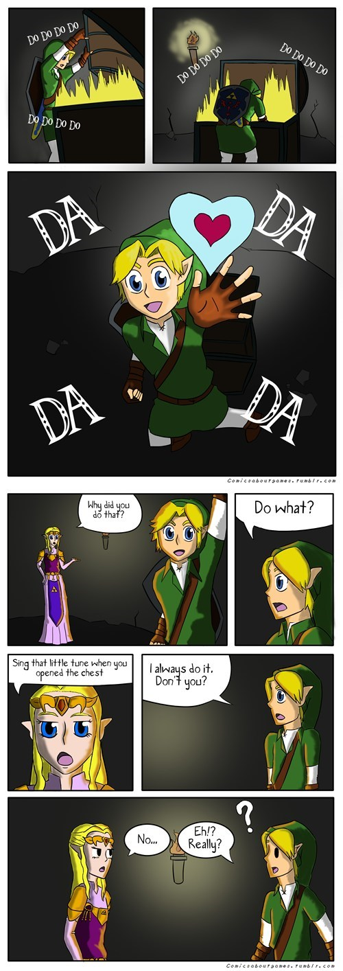 getting an item link comics zelda funny - 7518304256