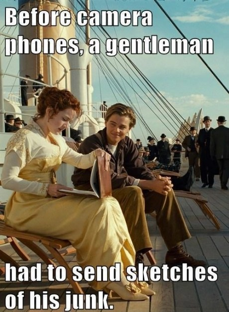 titanic,camera phones,olden days,funny,AutocoWrecks