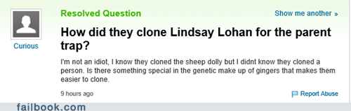 cloning yahoo answers lindsay lohan The Parent Trap funny - 7518335744