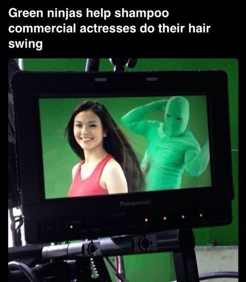 green screen greenman shampoo funny