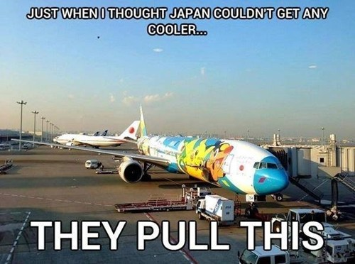 Pokémon awesome Japan airplanes - 7518449408