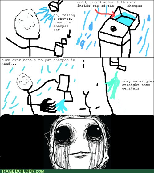 cold shower cold shower shampoo funny - 7518456320