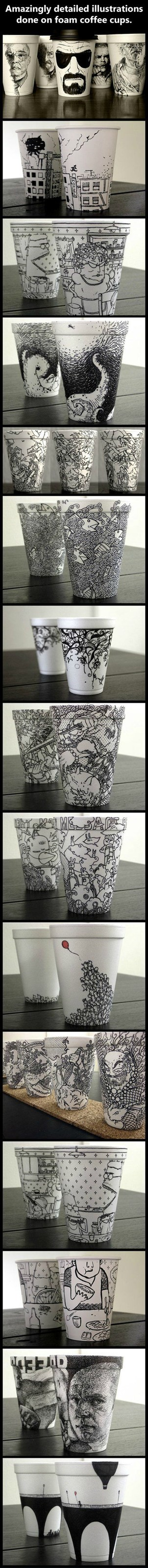 art barista coffee cup art