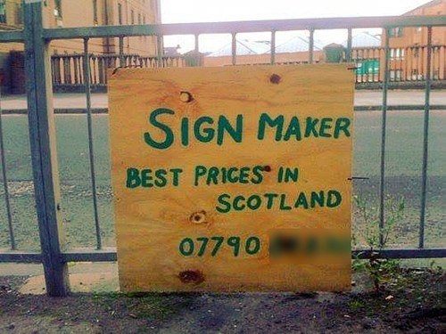 signs,low budget,funny,heres-your-sign