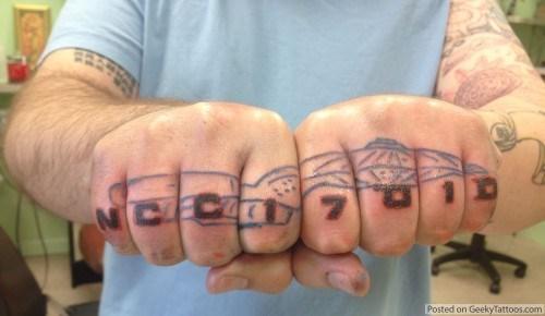 tattoo WIN USS Enterprise nerdgasm Star Trek funny g rated Ugliest Tattoos - 7518802688
