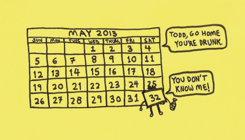 drinking may calendar funny