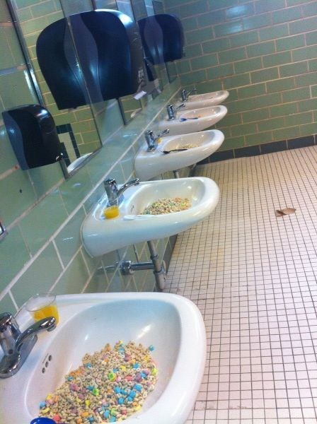 bathroom,sinks,lucky charms,funny