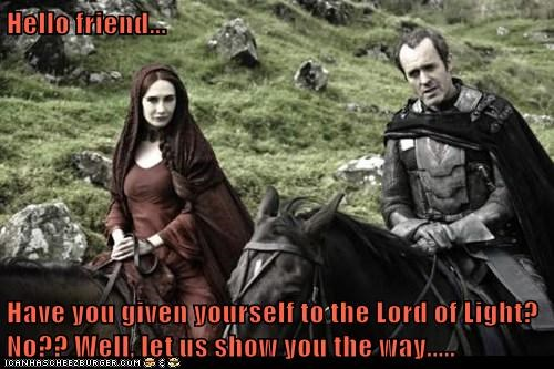 religion Game of Thrones lord of light - 7518968320