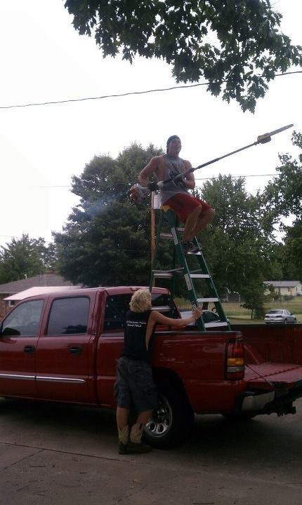 gardening chainsaws pruning rednecks funny trucks