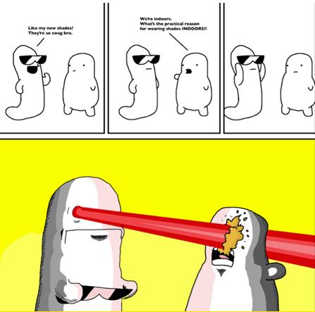 sunglasses sad but true lasers funny - 7519054080