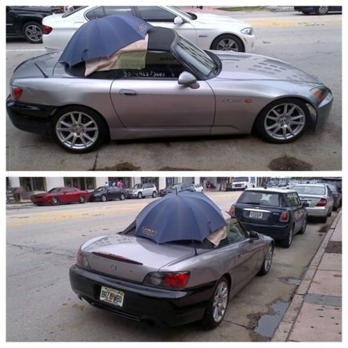 convertibles,quick fix,funny,umbrellas