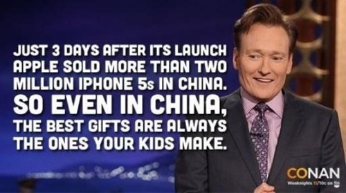 China,conan obrien,apple,funny