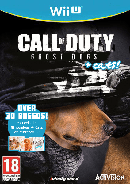 call of duty,dogs,call of duty ghosts,wii U,funny