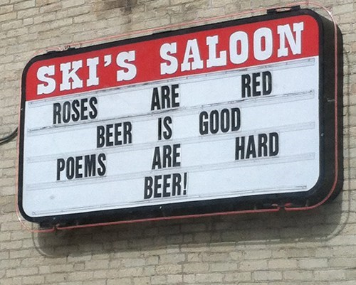 beer,saloon,funny,poems,after 12,g rated