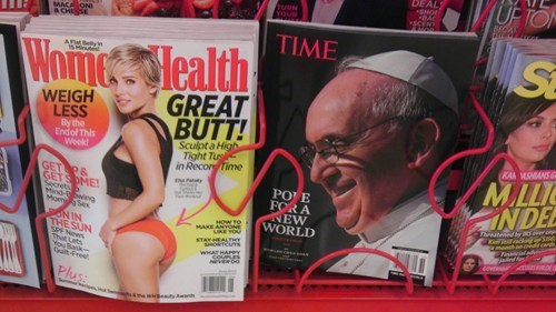 magazines,placement,funny,pope francis