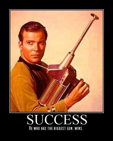 Captain Kirk gun Star Trek funny