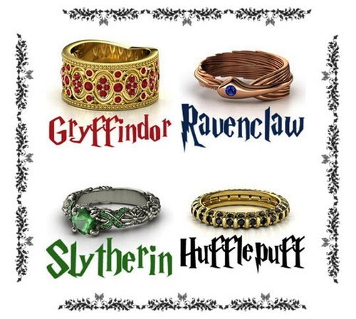 rings Harry Potter accessories Fan Art Jewelry - 7522595328