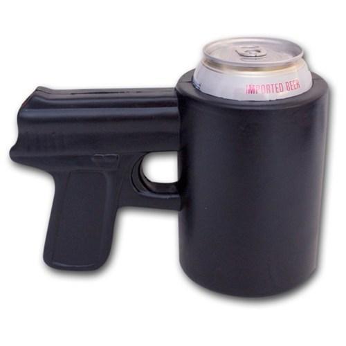 beer koozie gun funny - 7523054336