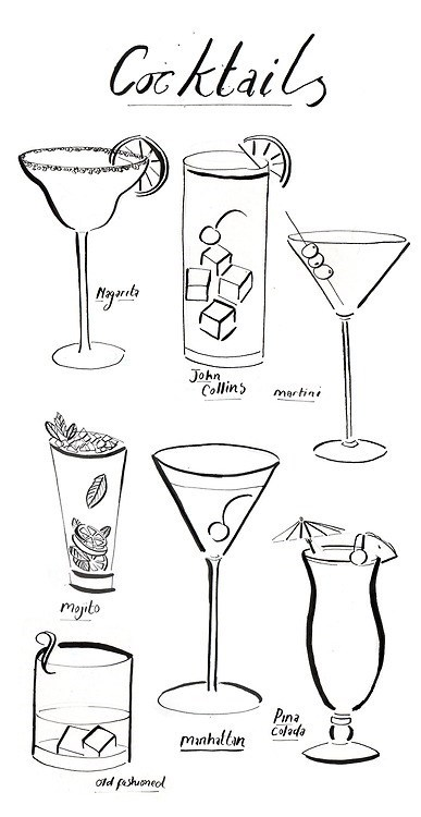 cocktails poster glass funny - 7523393536