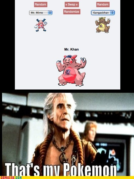Pokémon,khan,Star Trek,funny