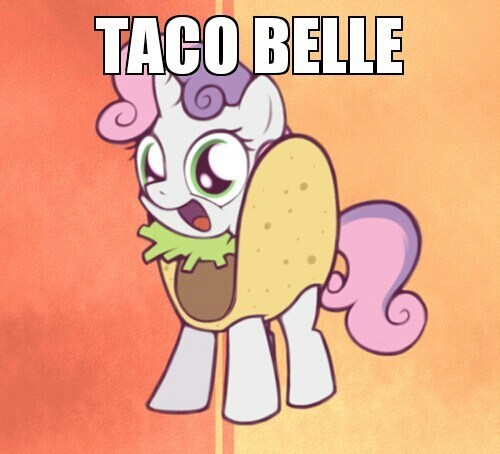 taco bell tacos Sweetie Belle look at the gif below - 7525974016