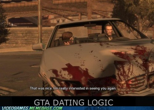 grand theft auto IV,Grand Theft Auto,video game logic,dating