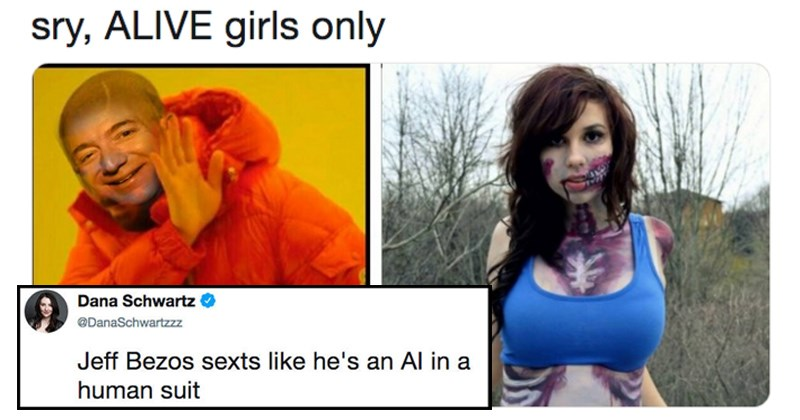 funny meme about jeff bezos sexting