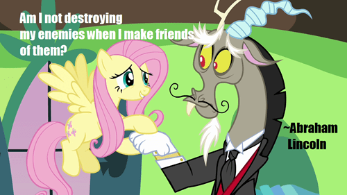 quotes abraham lincoln discord fluttershy
