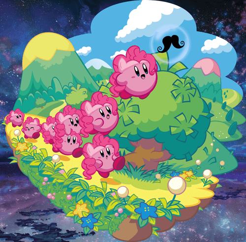 crossover art kirby pinkie pie - 7529020672