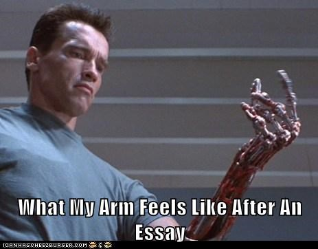 What My Arm Feels Like After An Essay