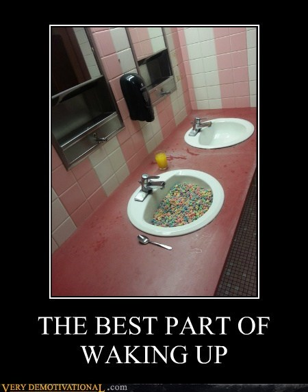 breakfast wtf sink cereal