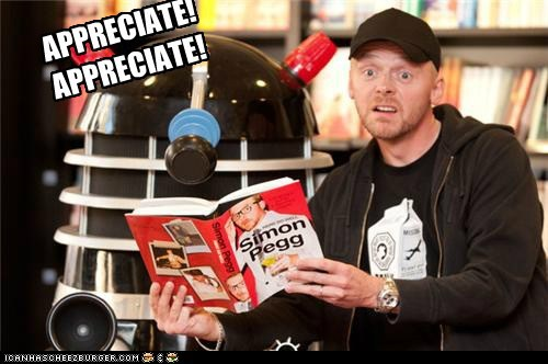 Simon Pegg,daleks,doctor who