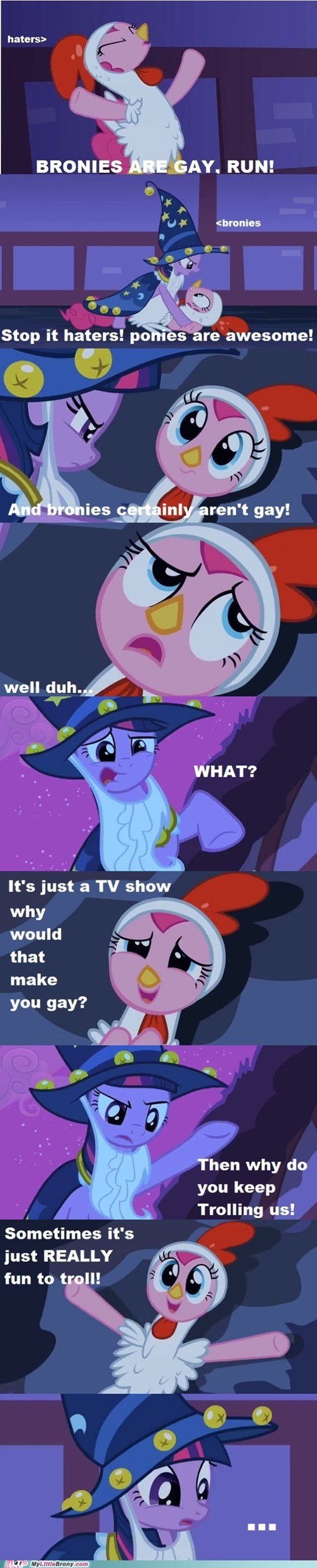 Bronies trolling twilight sparkle pinkie pie haters - 7530594560