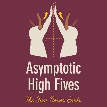 asymptotic,high fives,math,funny