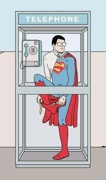 art changing funny superman - 7530989568