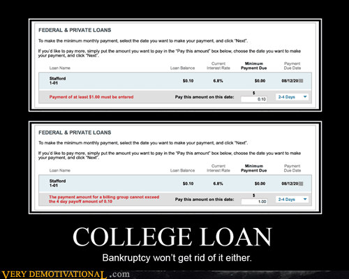 screwed college loans bankruptcy funny - 7531417856