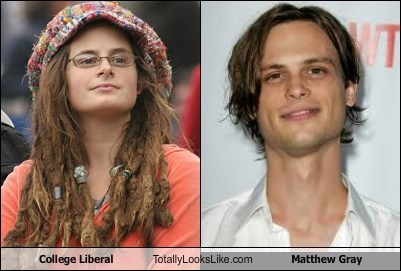 totally looks like,college liberal,matthew gray,funny