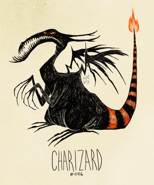 Illustration - hat boy CHARIZARD #006
