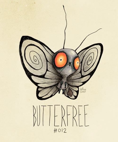 Insect - bathey tumlr BUTTERFREE #012