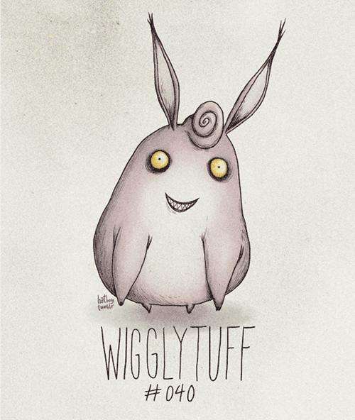 Illustration - bat WIGLYTIUFF #040