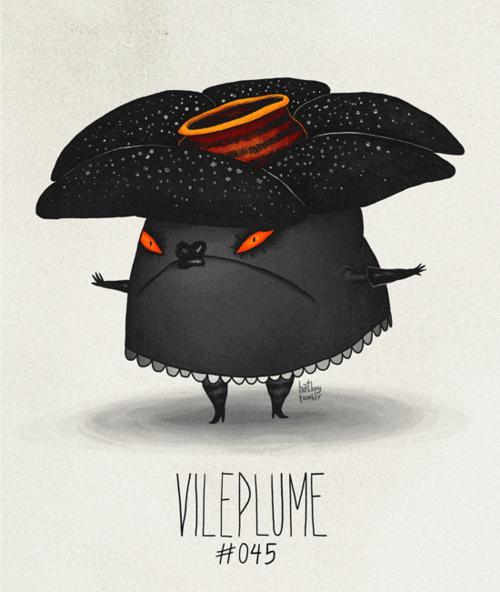 Illustration - bat fur VILEPLUME #045