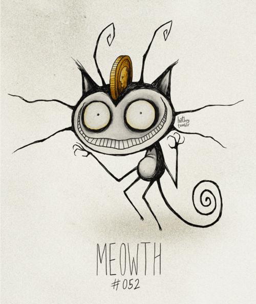 Cartoon - hat tunir MEOWTH #052
