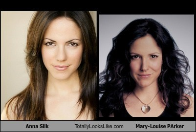 anna silk,mary-louise parker,totally looks like,funny