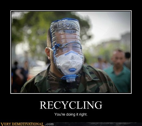wtf,recycle,gas mask,funny