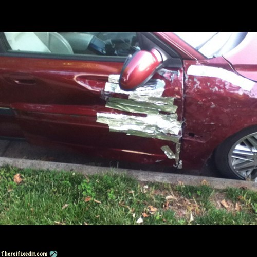 side swipes,car accidents,duct tape,funny