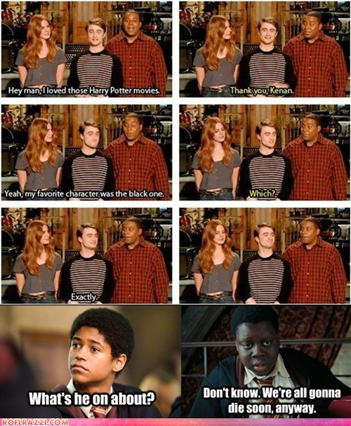racism,Harry Potter,kenan thompson