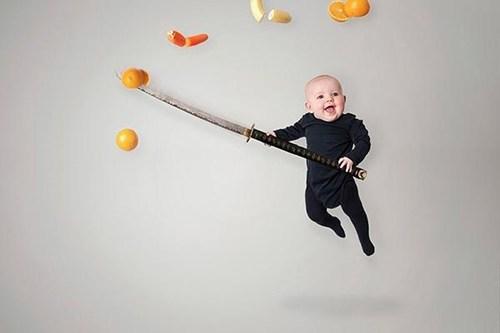 Babies fruit ninja funny phoot shoots - 7533900544