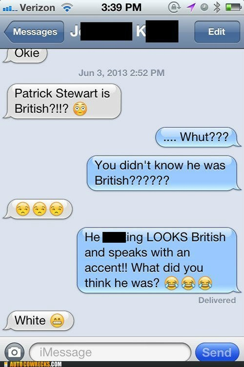 misidentification,British,funny,patrick stewart,g rated,AutocoWrecks