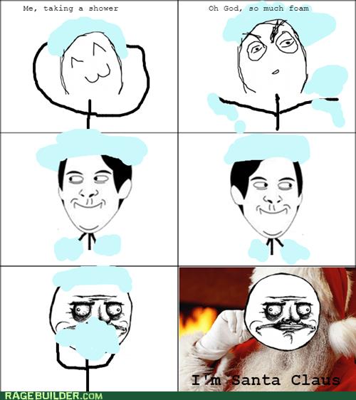 foam me gusta shower santa claus